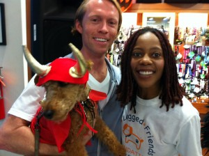 Photo of Posing with Debra Wilson Skelton at The Healthy Spot Halloween Party