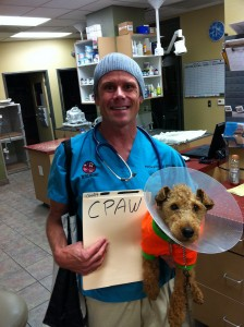 Phot of Phil Holds Me as Though I am His Veterinary Patient