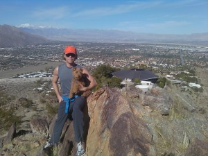 Photo of Cardiff and I hike Palm Springs Near Bob Hope House